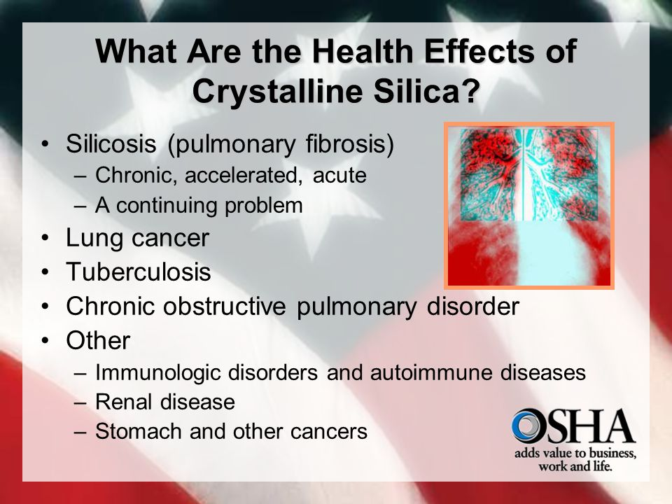 What Are the Health Effects of Crystalline Silica.