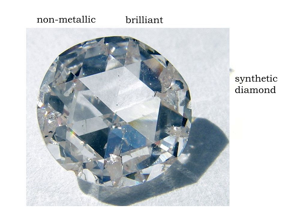 non-metallic synthetic diamond