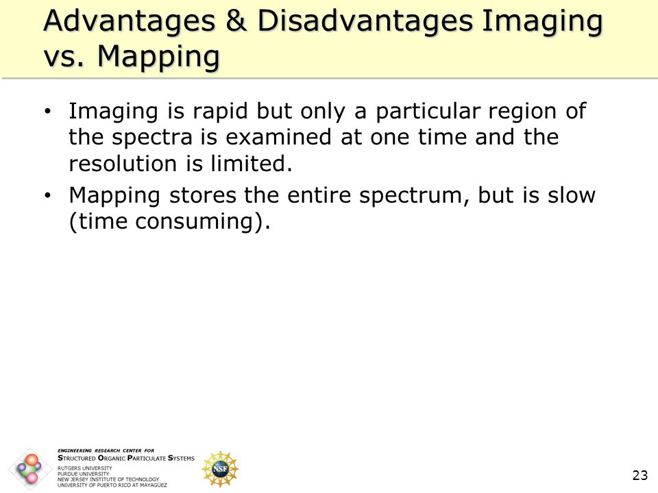 23 Advantages & Disadvantages Imaging vs.
