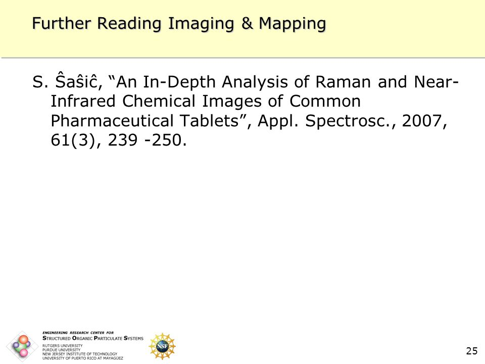 25 Further Reading Imaging & Mapping S.