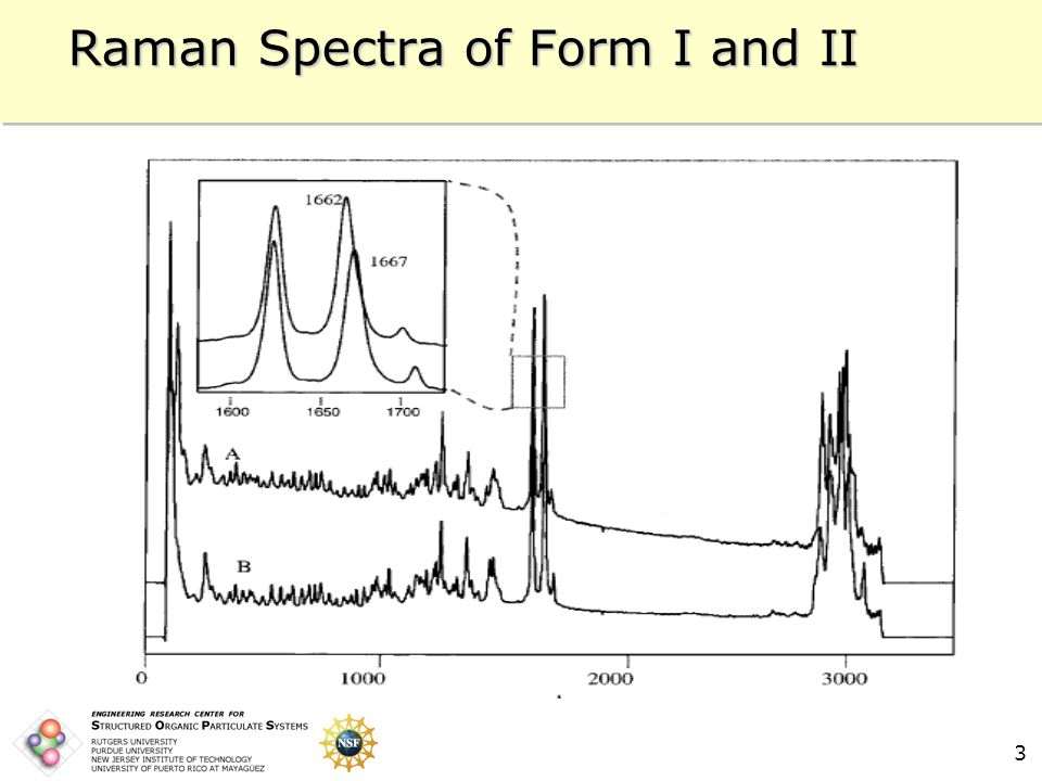 3 Raman Spectra of Form I and II