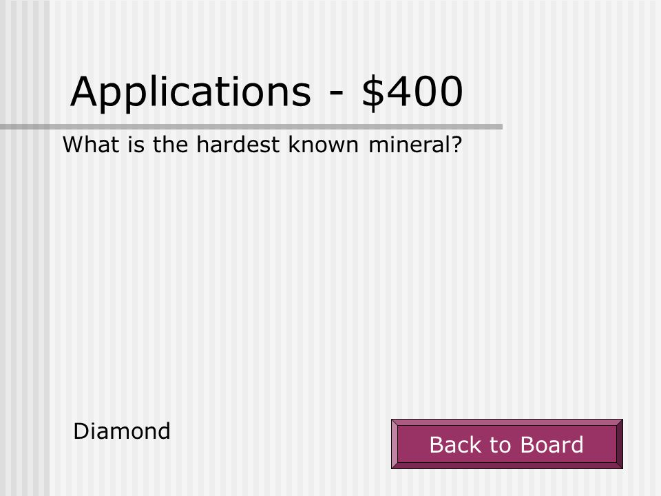Applications - $300 What does a mineral's streak tell you, and how do you test for it? A mineral's streak tells the color of the mineral when it is in