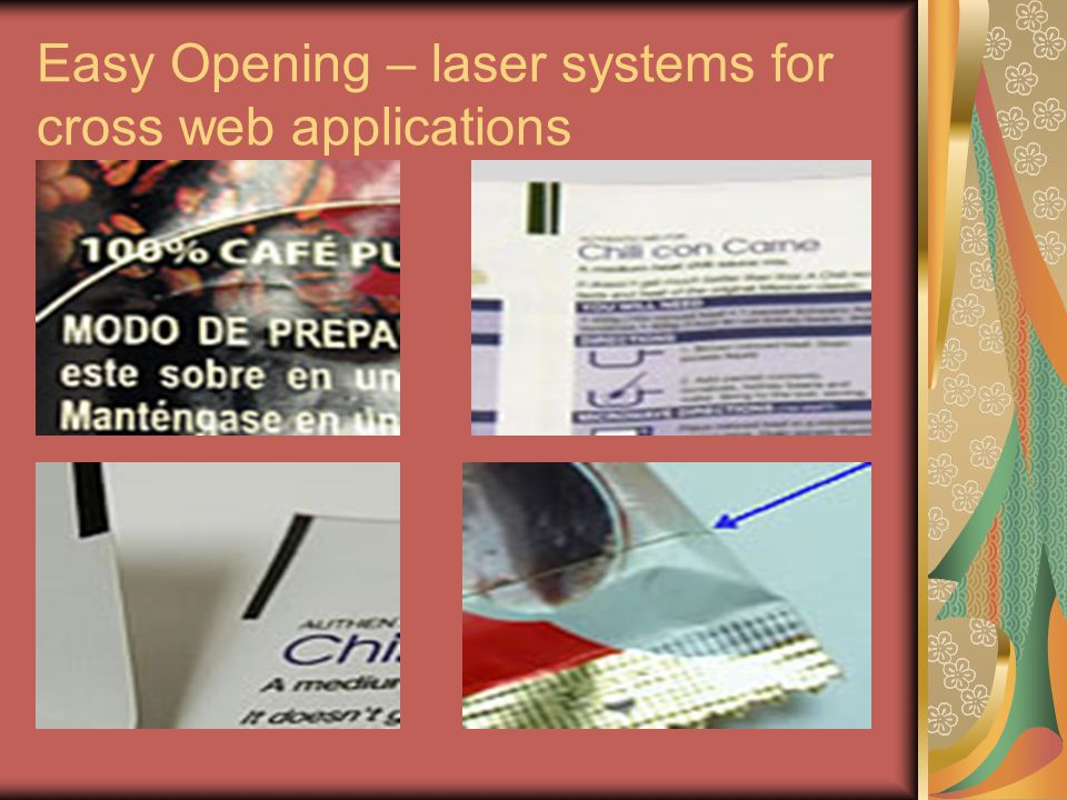 Easy Opening – laser systems for cross web applications