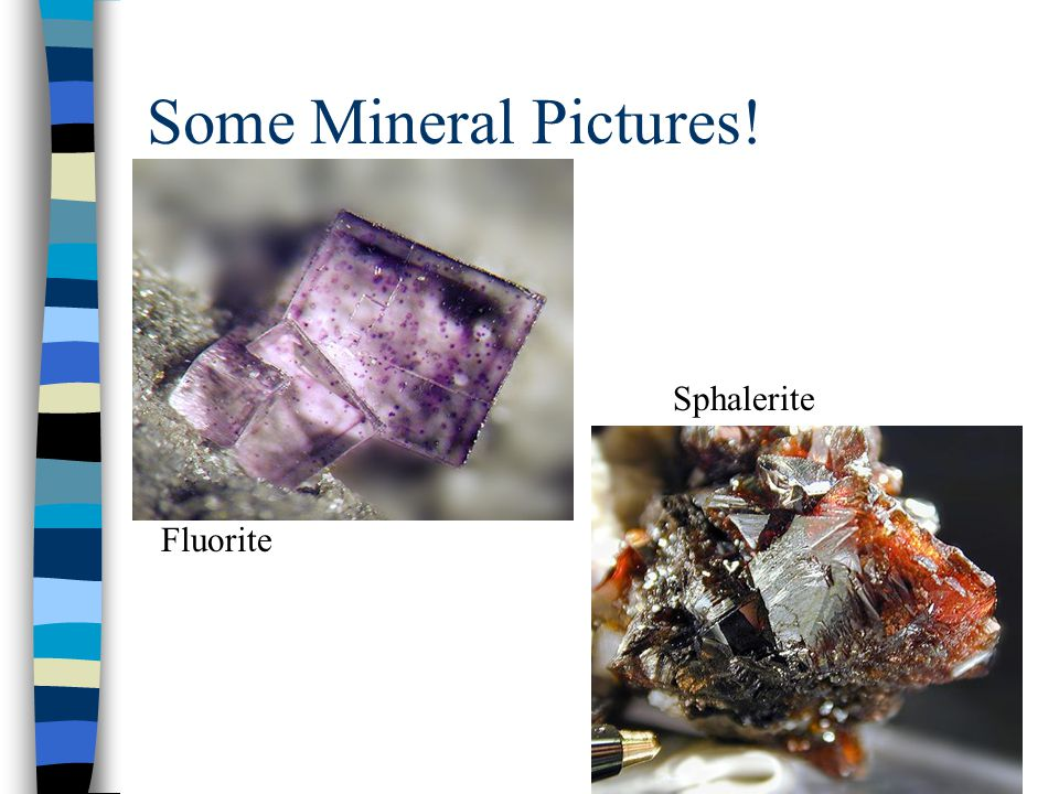 Some Mineral Pictures! Fluorite Sphalerite