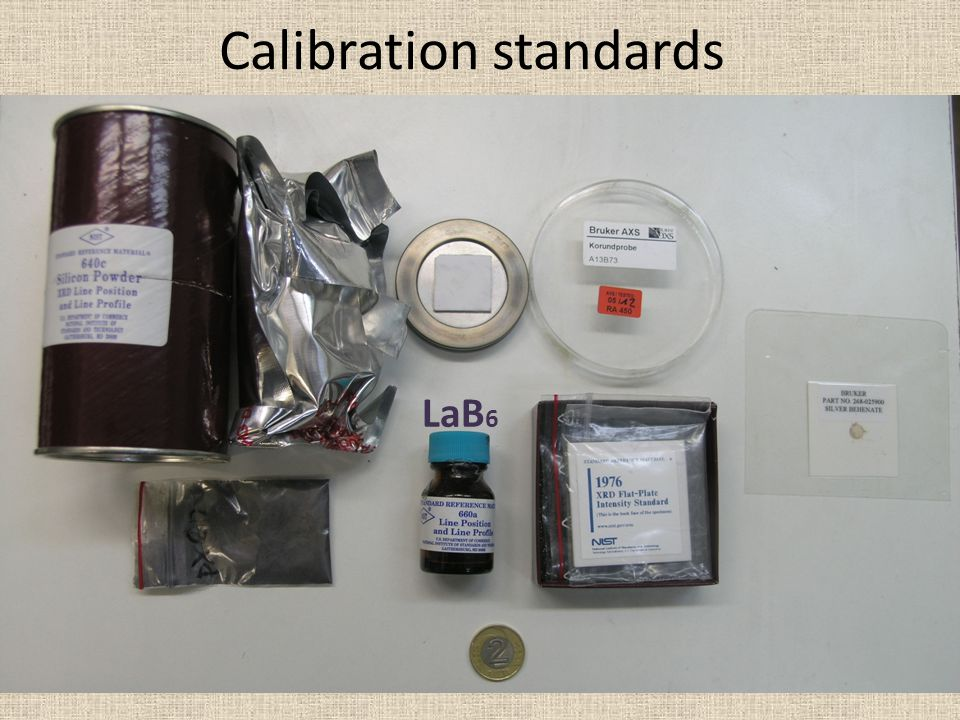 Calibration standards LaB 6