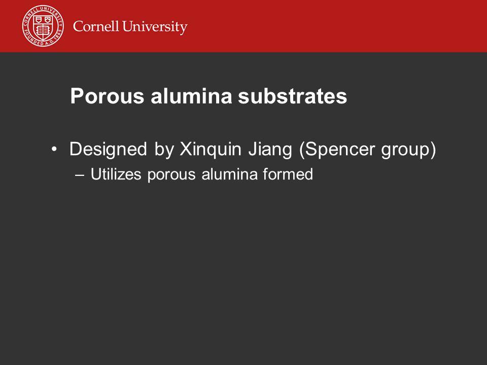 Porous alumina substrates Designed by Xinquin Jiang (Spencer group) –Utilizes porous alumina formed