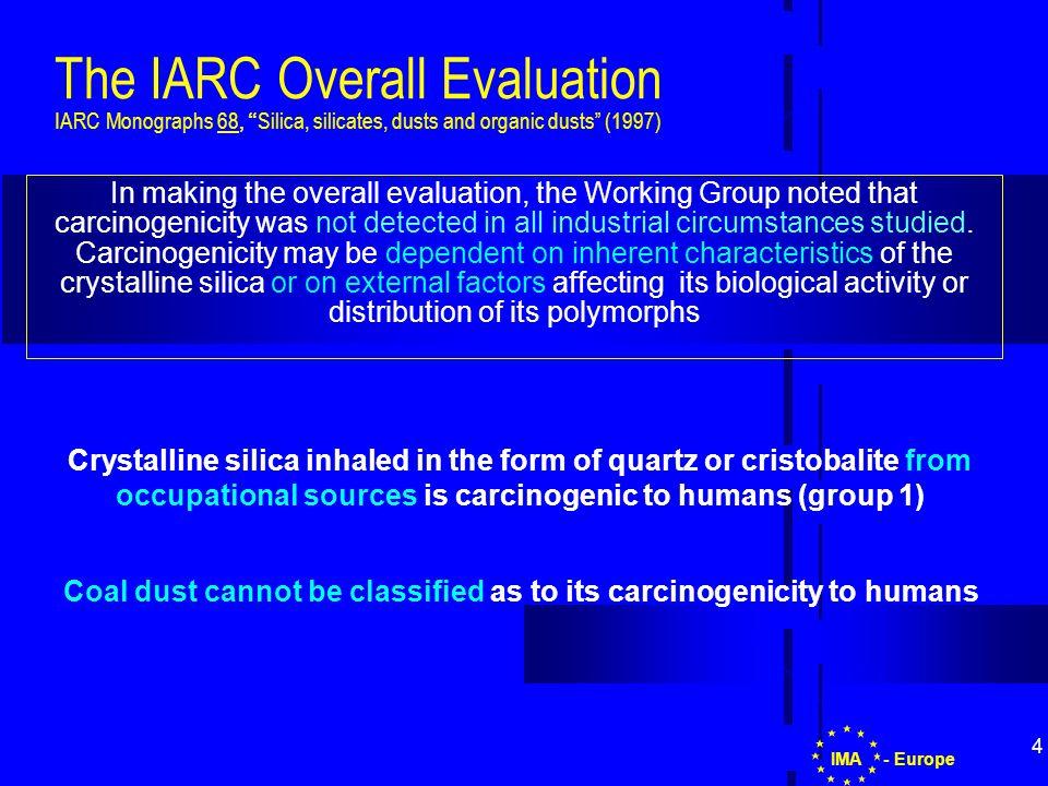 15 - EuropeIMA Carcinogens Directive in which industrial circumstances.