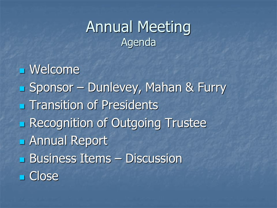 Annual Meeting January 6 Leadership in Manufacturing