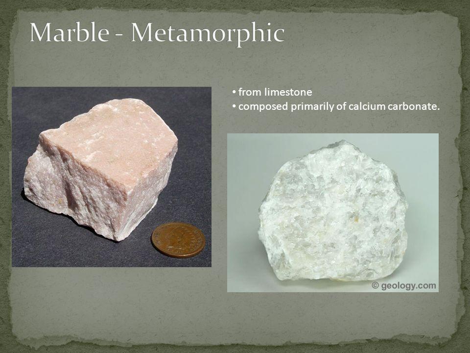 from limestone composed primarily of calcium carbonate.