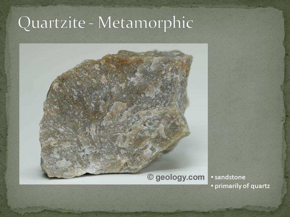 sandstone primarily of quartz
