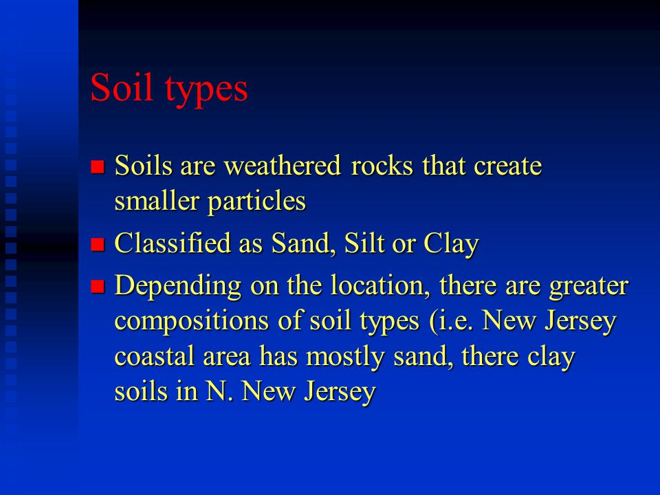 Soil Contamination n Since soils are in the LITHOSPHERE (Crust), they will be exposed to more environmental stresses which will inevitably permeate down the soils possibly toward groundwater.