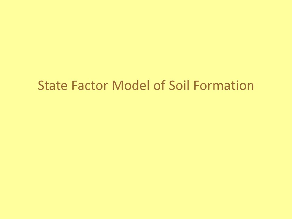 State Factor Model of Soil Formation