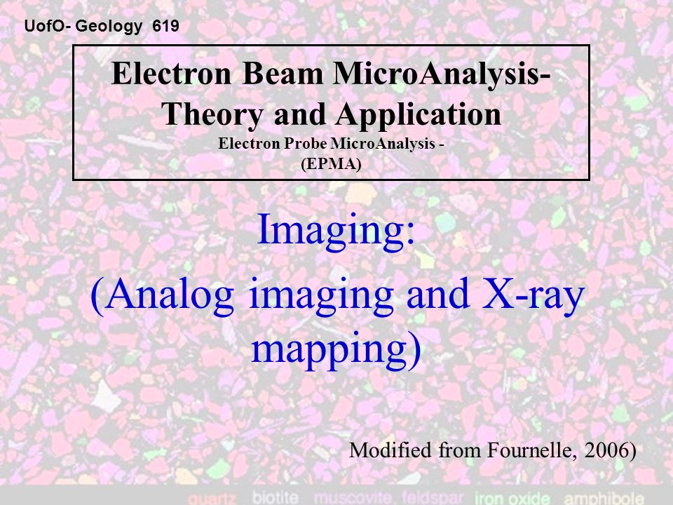 X-ray maps … Fully quantitative The X-ray maps usually acquired are quantitative, although not to the maximum extent possible, i.e., the background is not subtracted, nor is the matrix correction applied.