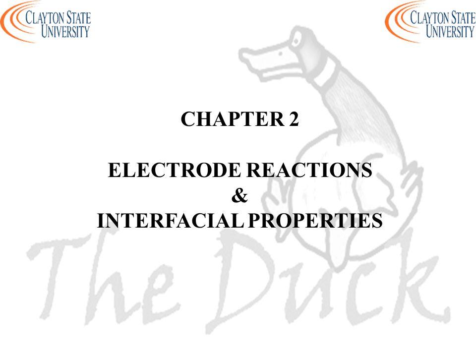 CHAPTER 2 ELECTRODE REACTIONS & INTERFACIAL PROPERTIES