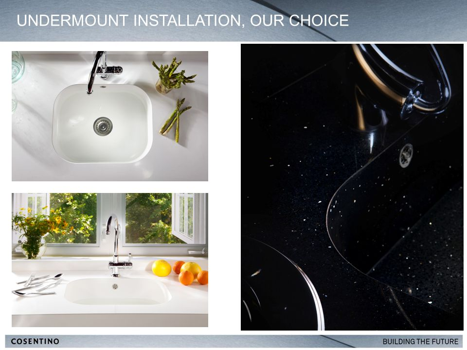 UNDERMOUNT INSTALLATION, OUR CHOICE 7