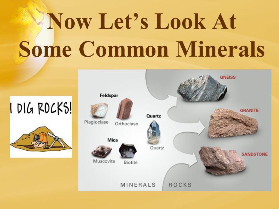 Now Let's Look At Some Common Minerals