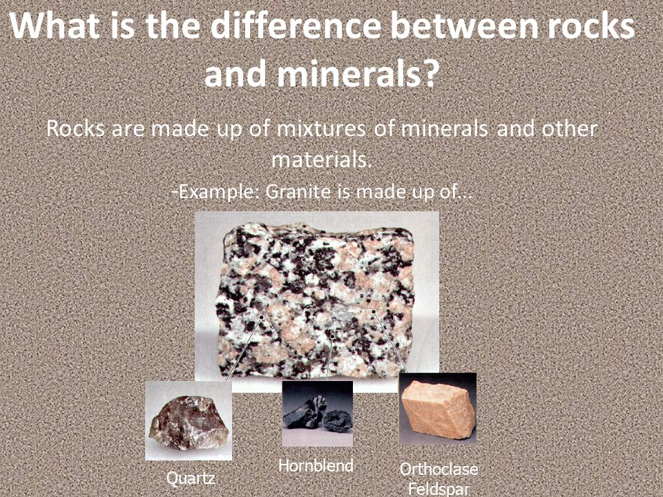 What is the difference between rocks and minerals.