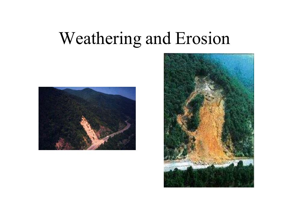 Weathering: The disintegration or decomposition of rocks on the Earth s surface.