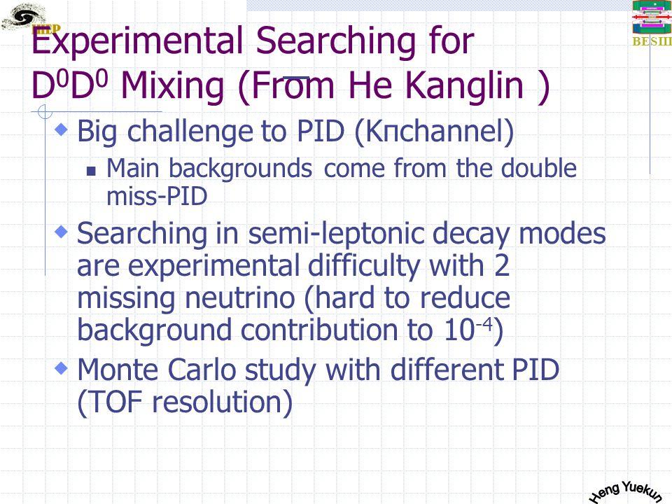 BESIII K/πmomentum on BESIII  BEPCII: 2.0~4.2GeV  BESIII: Charm physics:J/Psi, Psi ', Psi '' Tau Physics  K/π momentum: almost all<1.5GeV  K/π seperation: 1.2GeV is enough  Present TOF: 0.9GeV(2sigma,95%) Next target Momentum distribution for hadrons at J/psi