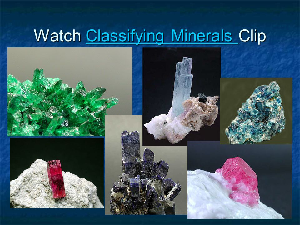 Watch Classifying Minerals Clip Classifying Minerals Classifying Minerals