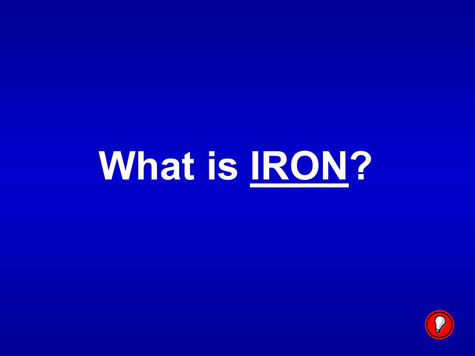 What is IRON
