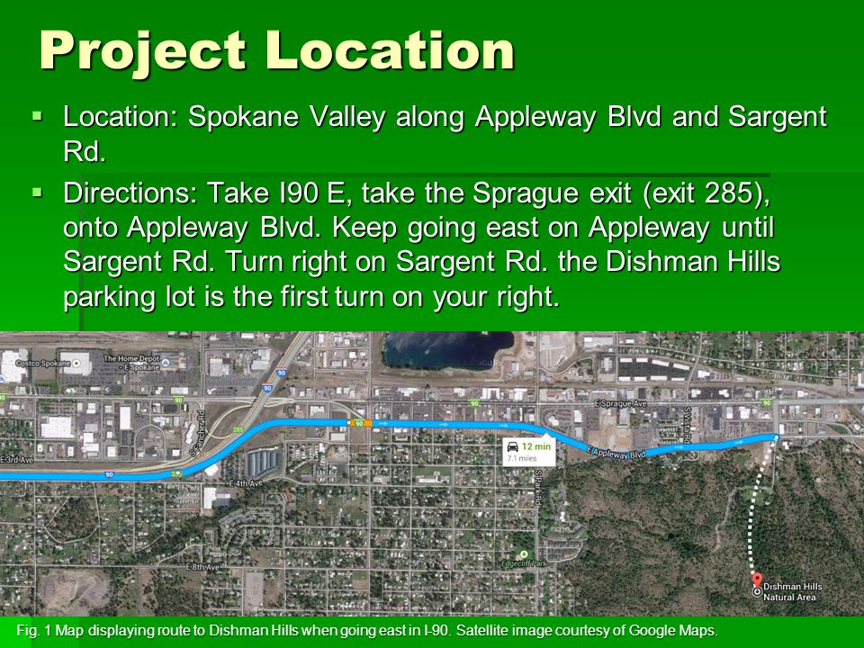 Project Location  Location: Spokane Valley along Appleway Blvd and Sargent Rd.