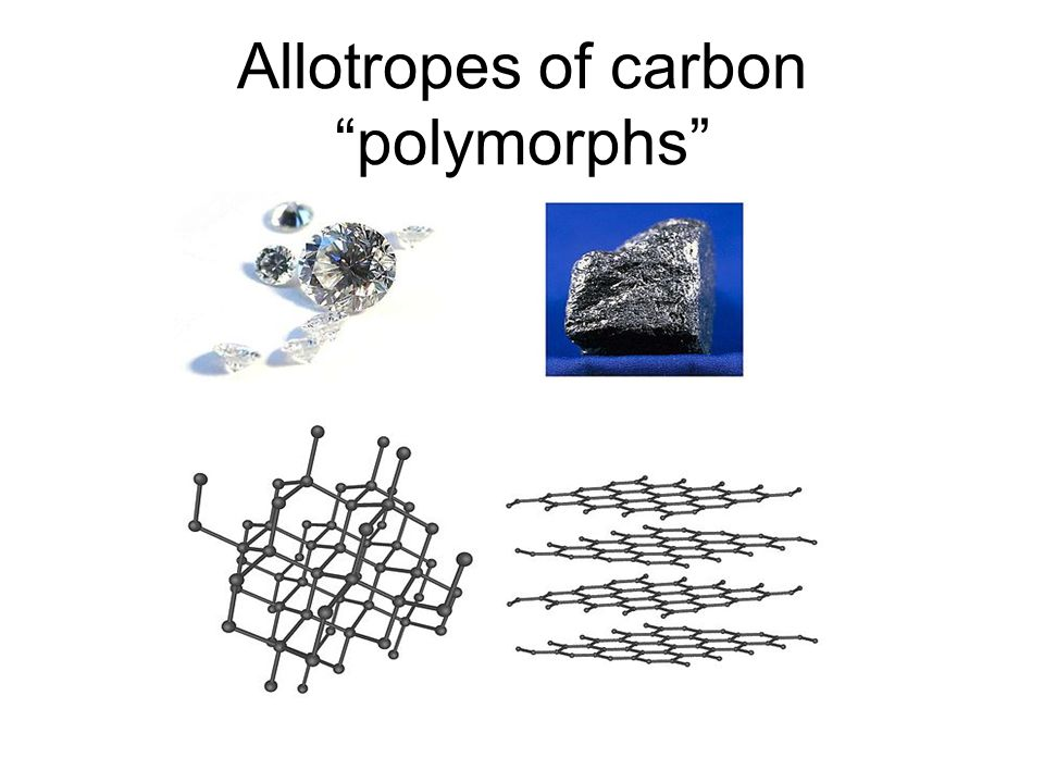 "Allotropes of carbon ""polymorphs"""