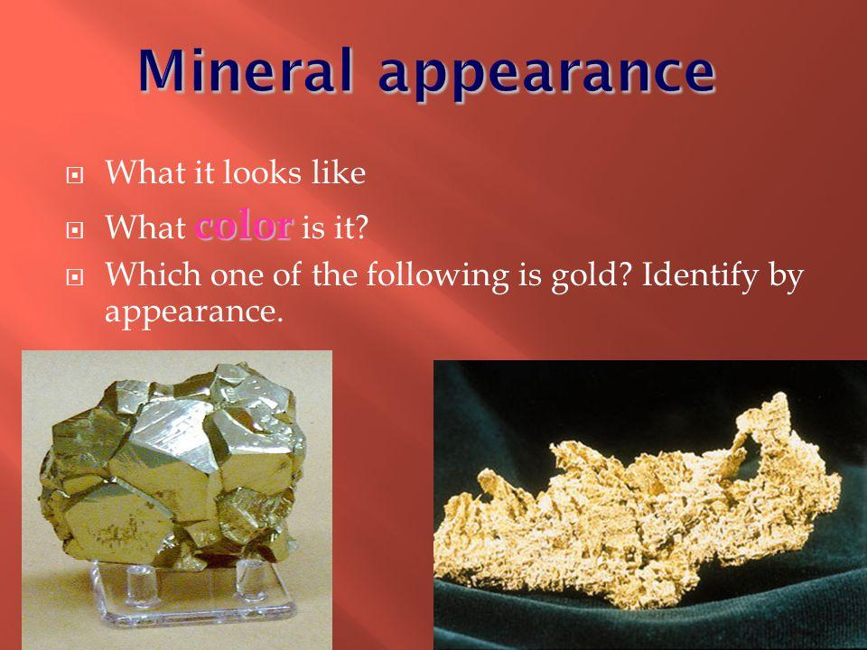  Minerals are often found in ores.