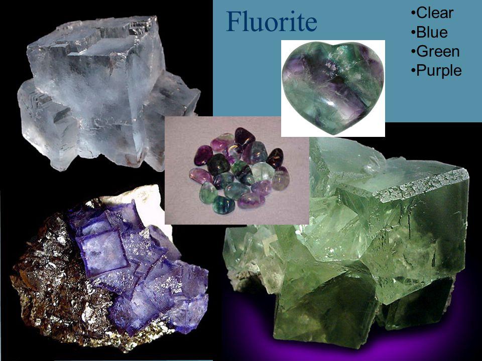 Fluorite Clear Blue Green Purple