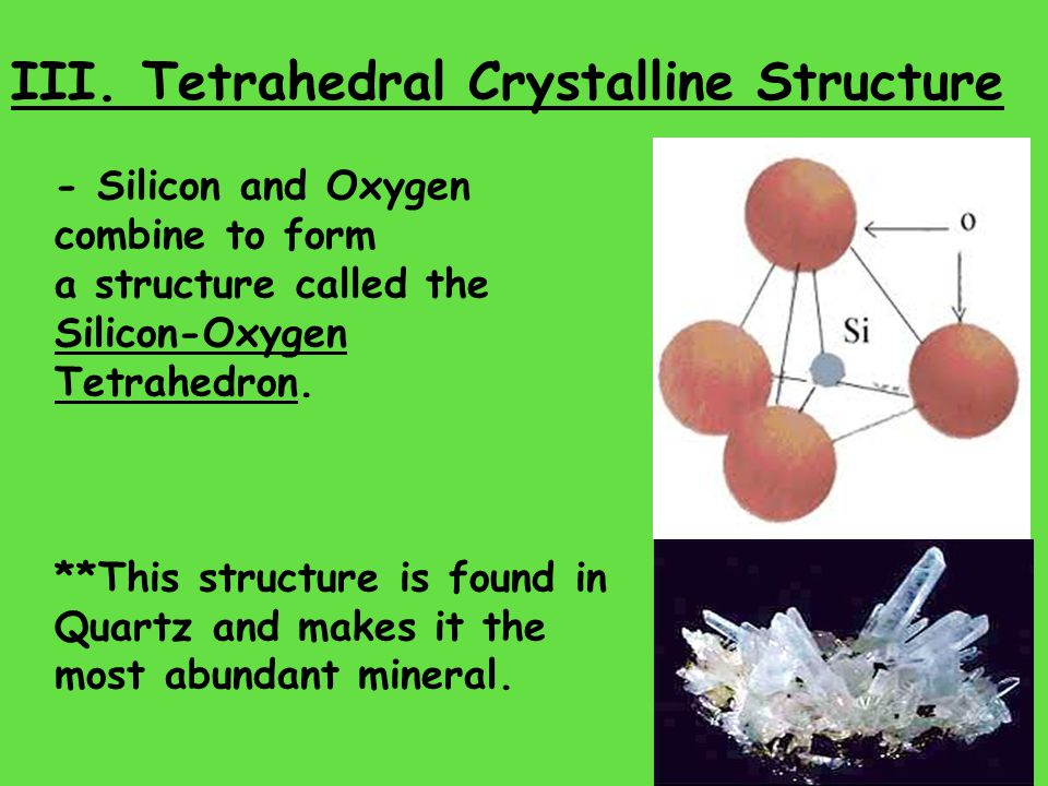 Review Questions: 1)What are the five characteristics of all minerals.