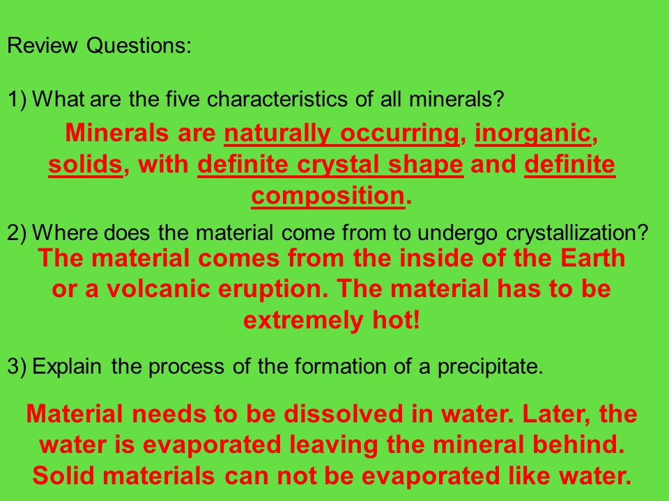 Aim: What properties do minerals have.
