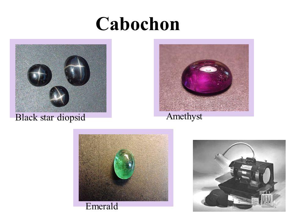 Cabochon Black star diopsid Amethyst Emerald