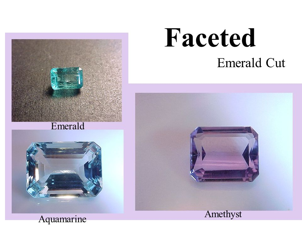 Faceted Emerald Cut Amethyst Emerald Aquamarine