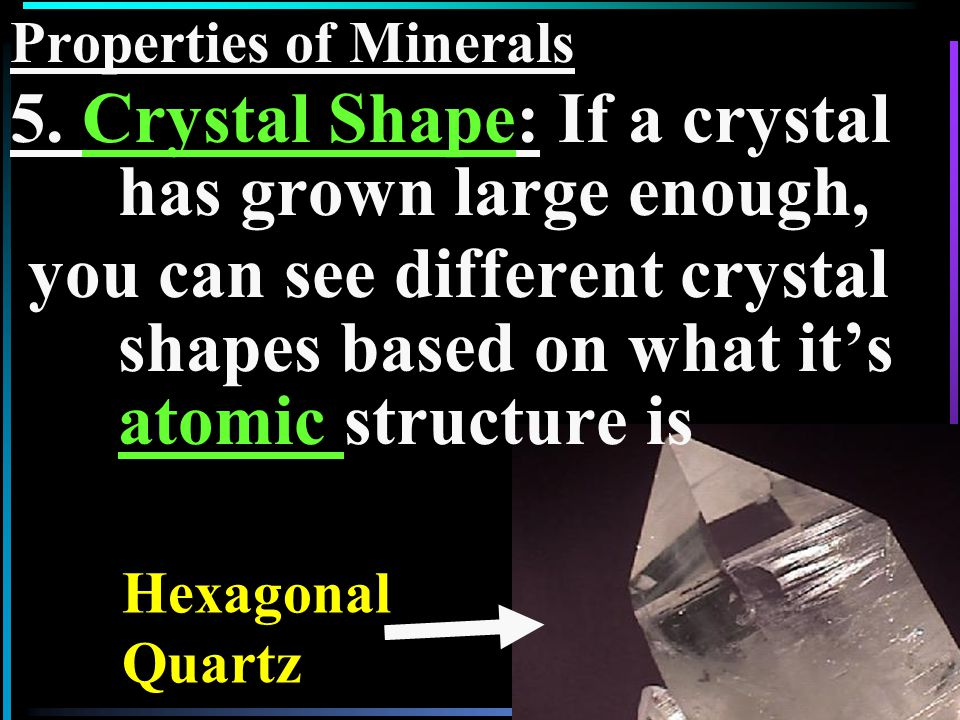 18 This minerals' atoms are bonded in loose sheets, So the mineral itself has Sheet (Basal) Cleavage Biotite mica