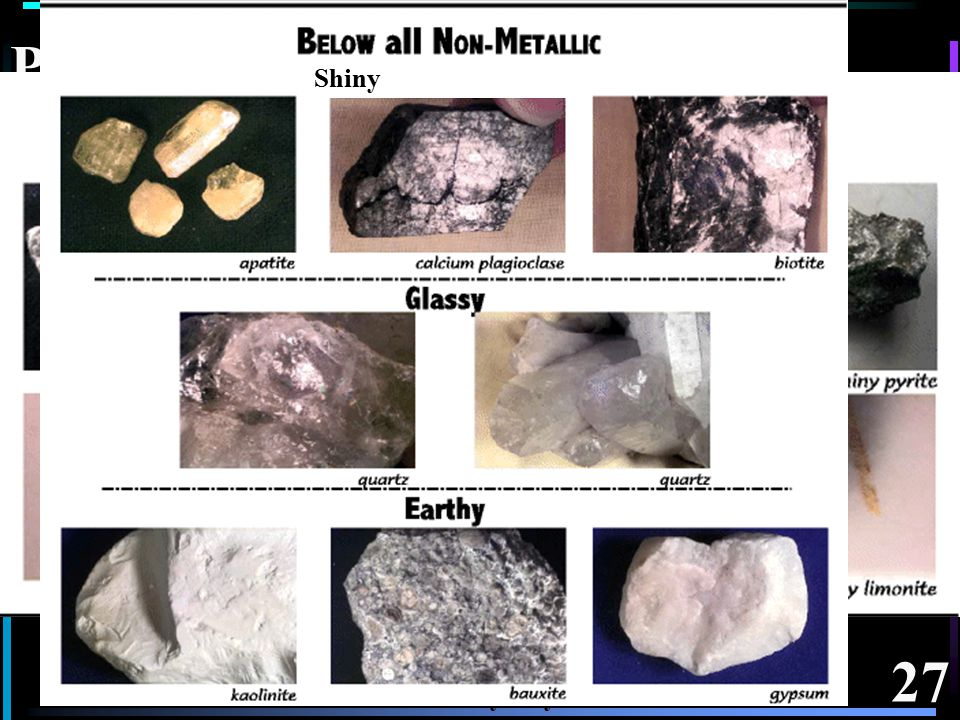 26 Splinter/Fibrous fracture So due to it's atomic structure this mineral's physical form has