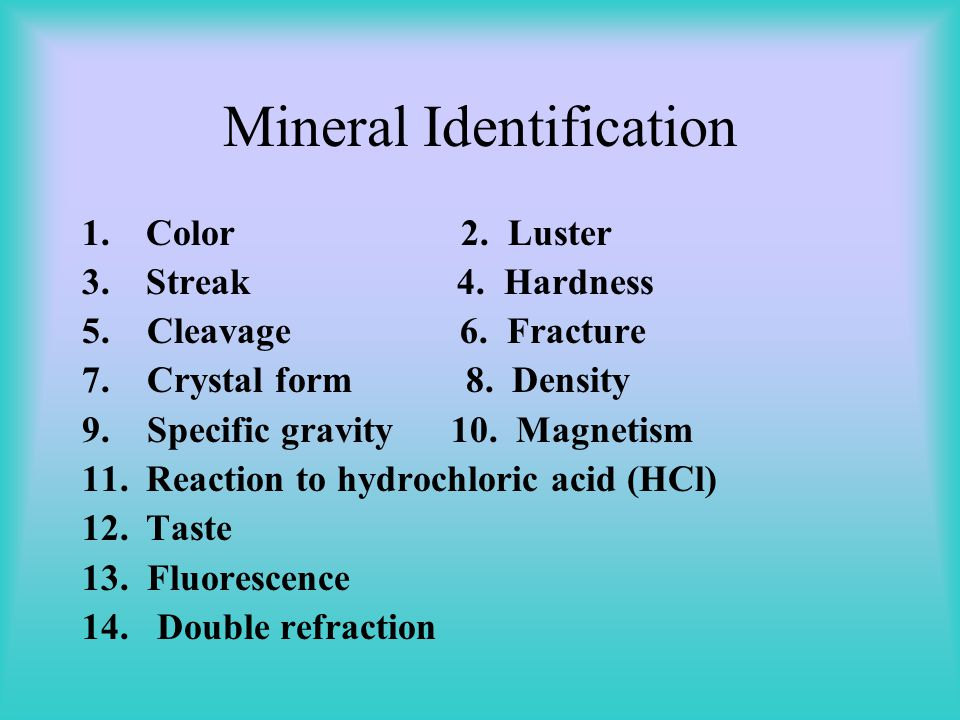 Mineral Formation 1.