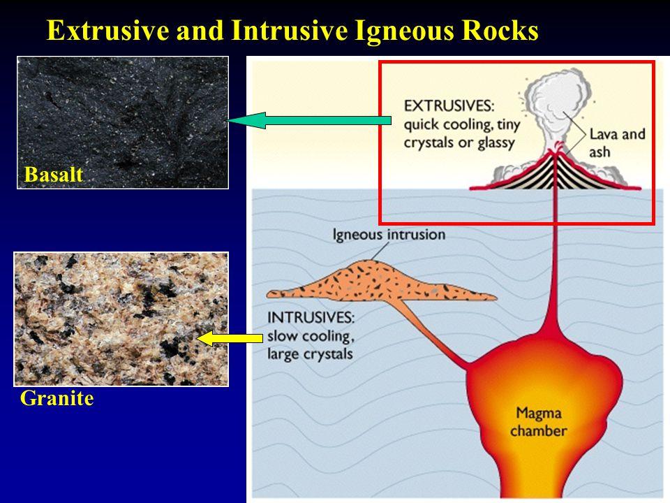 Extrusive and Intrusive Igneous Rocks Granite Basalt