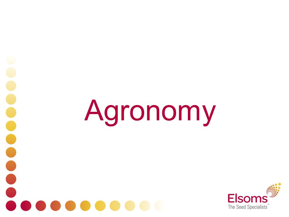 5 Agronomy