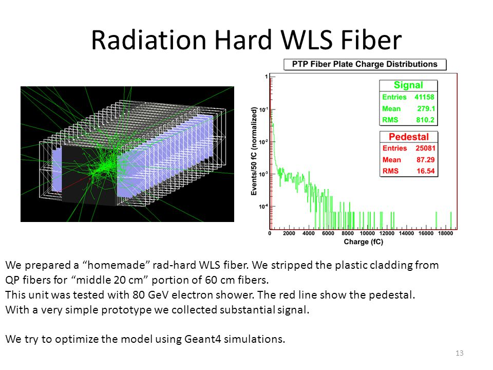 Radiation Hard WLS Fiber We prepared a homemade rad-hard WLS fiber.