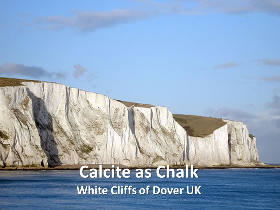 Calcite as Chalk White Cliffs of Dover UK