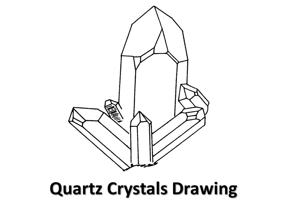 Quartz Crystals Drawing