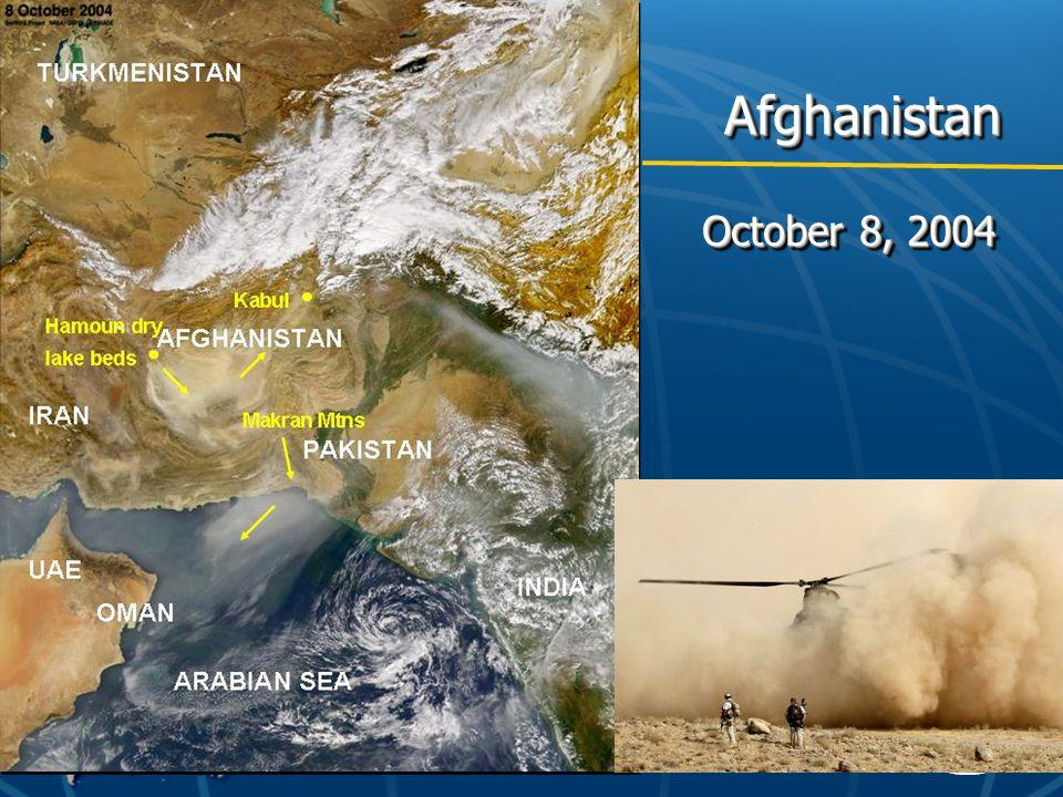 AfghanistanAfghanistan October 8, 2004
