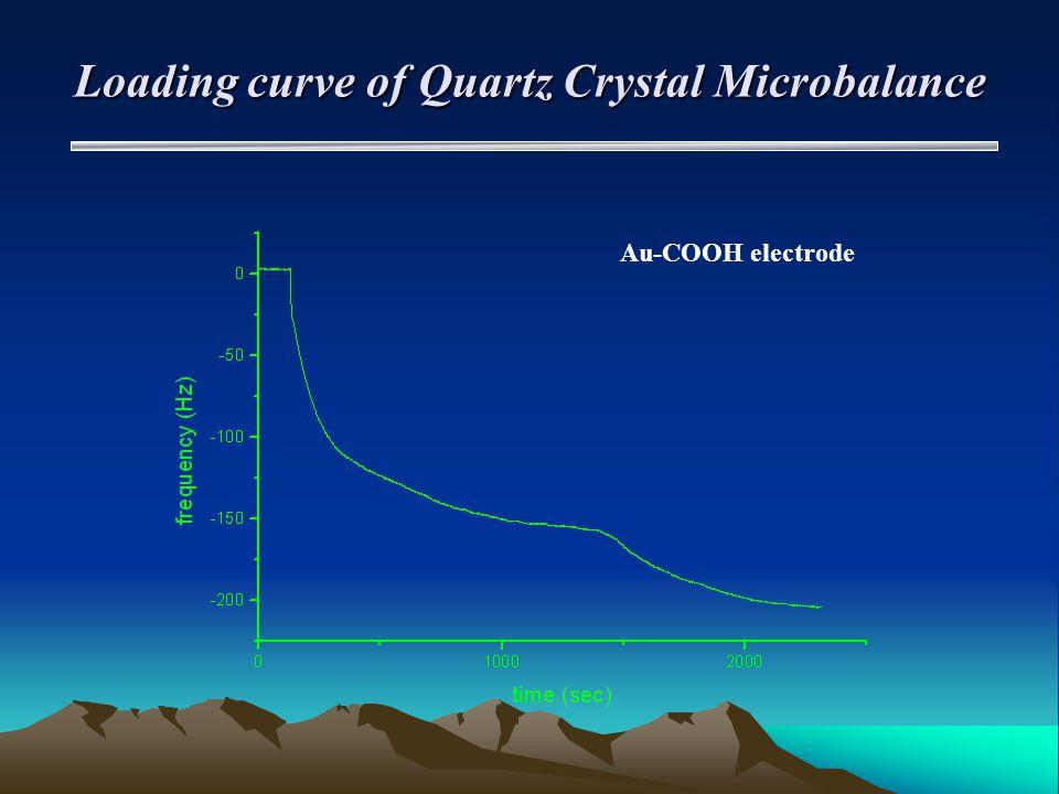 Loading curve of Quartz Crystal Microbalance Au-COOH electrode