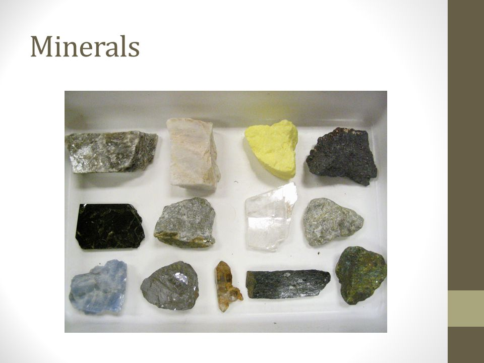 Mineral Facts There are about 3000 known minerals on earth.