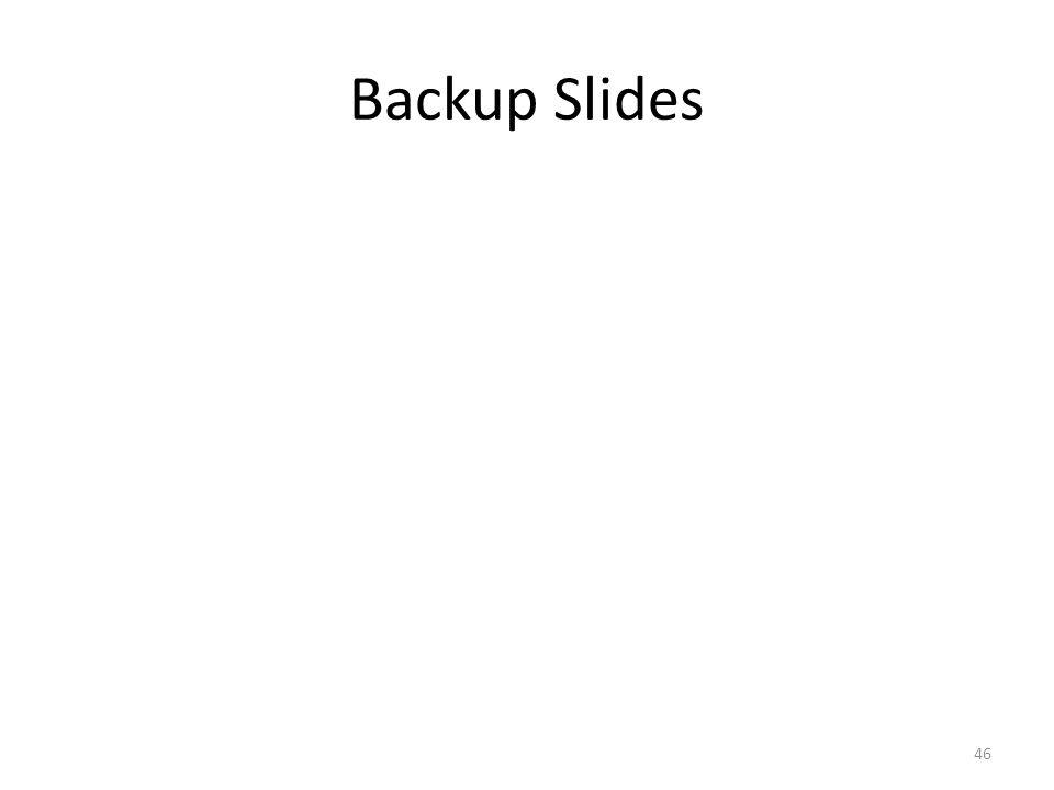 Backup Slides 46
