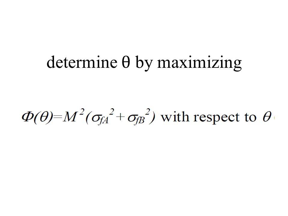 determine θ by maximizing