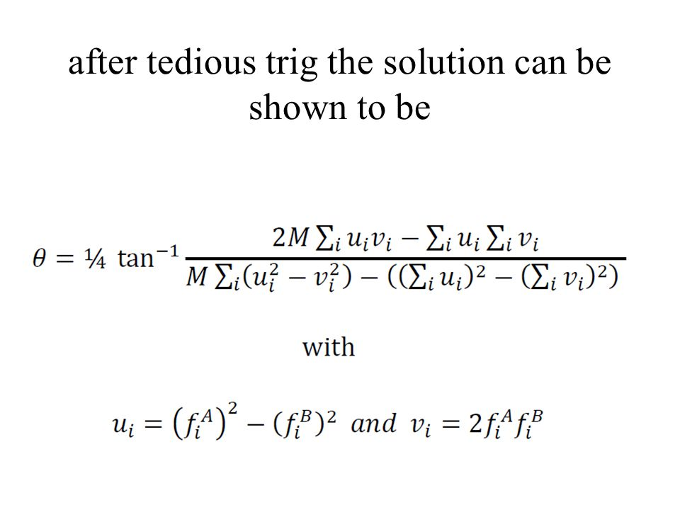 after tedious trig the solution can be shown to be