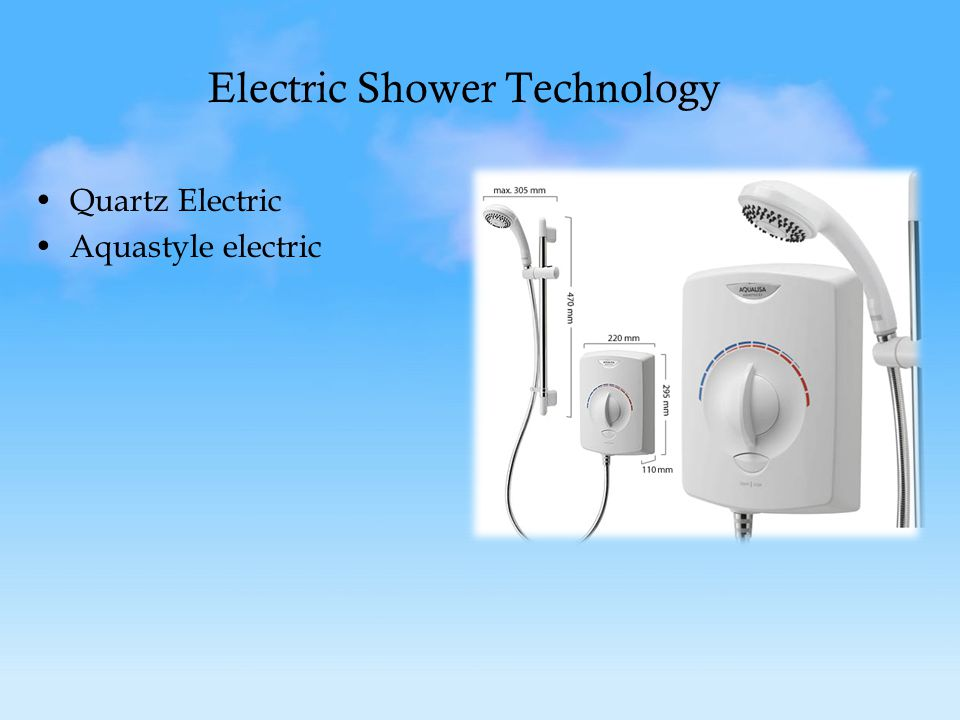Electric Shower Technology Quartz Electric Aquastyle electric