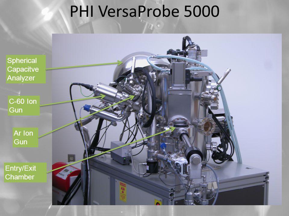 PHI VersaProbe 5000 Spherical Capacitve Analyzer C-60 Ion Gun Ar Ion Gun Entry/Exit Chamber