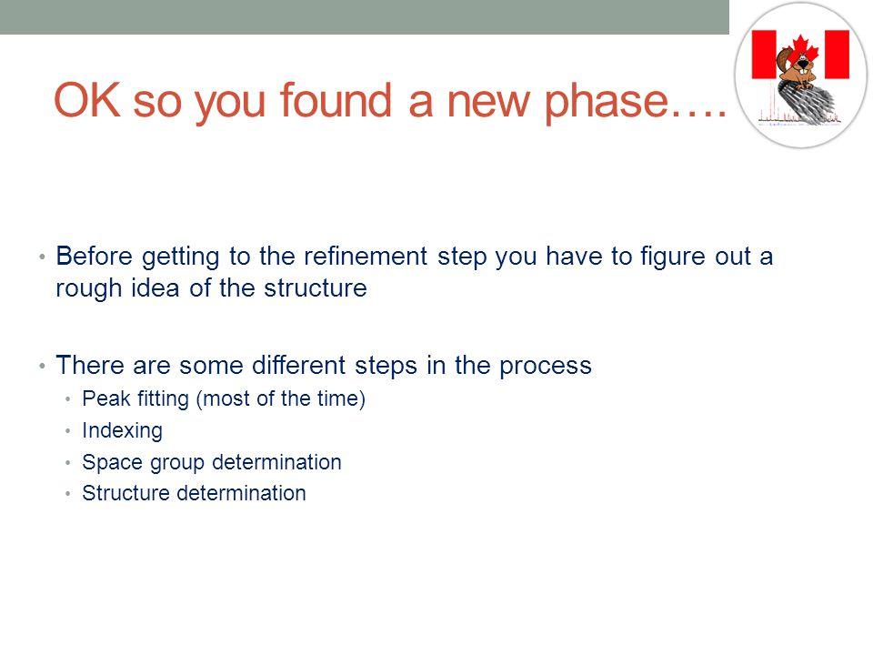 OK so you found a new phase….